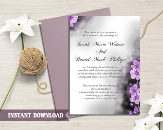 Elegant Wedding Invitation Templates: Wedding Invitation Template Download Printable Wedding