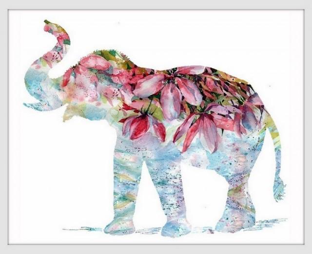 Elephant Art Print Elephant Decor Elephant Art Elephant