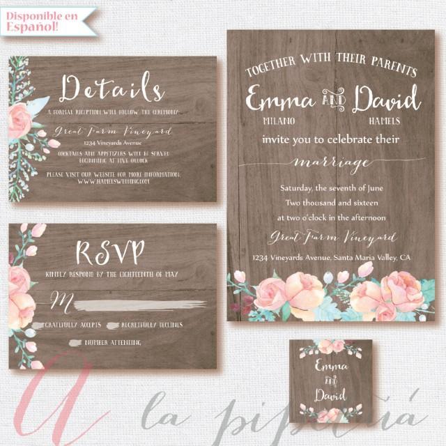 wood wedding suit  wedding invitation  wedding rsvp card