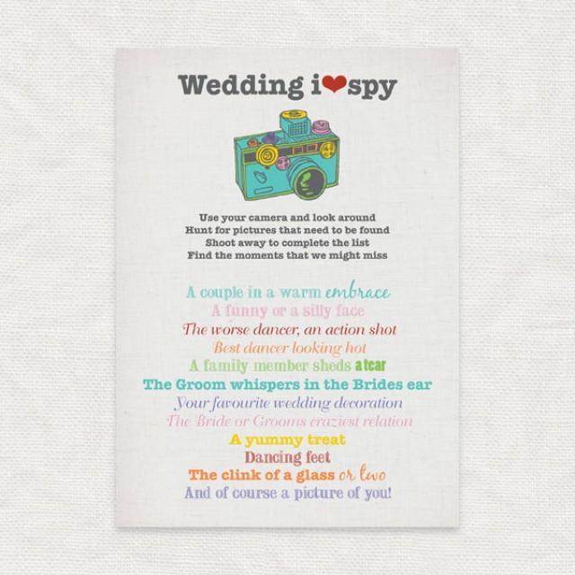 I SPY Wedding - Printable Party File - Wedding Reception Game ...