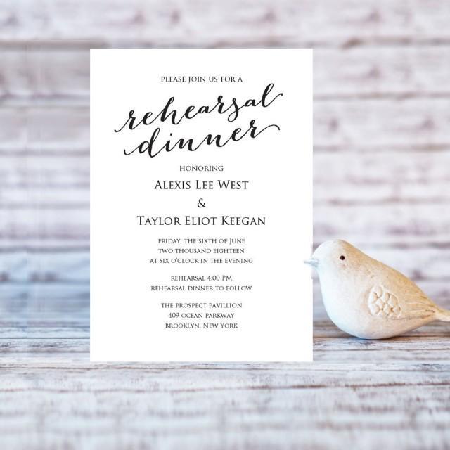 rehearsal dinner invitation template  diy printing  custom