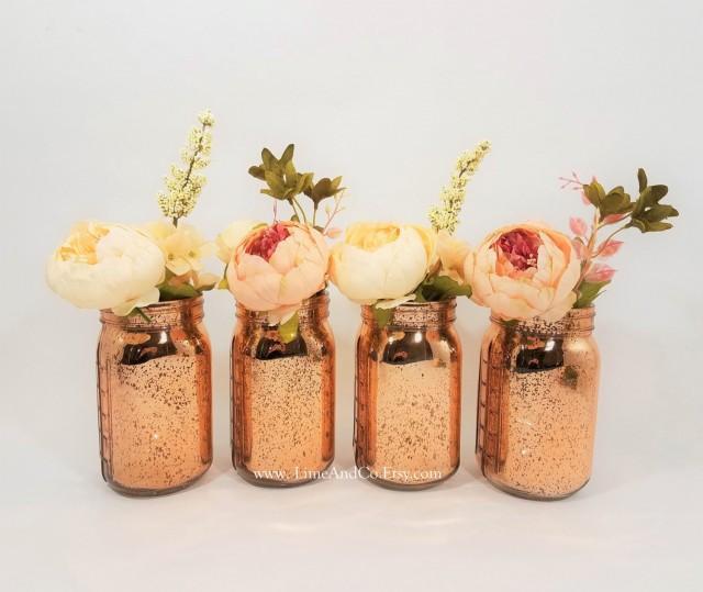 Mercury glass vase wedding decor bridal shower