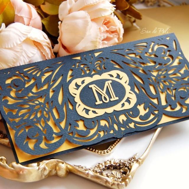Wedding Stationery Invitation Art Deco Nouveau Monogram
