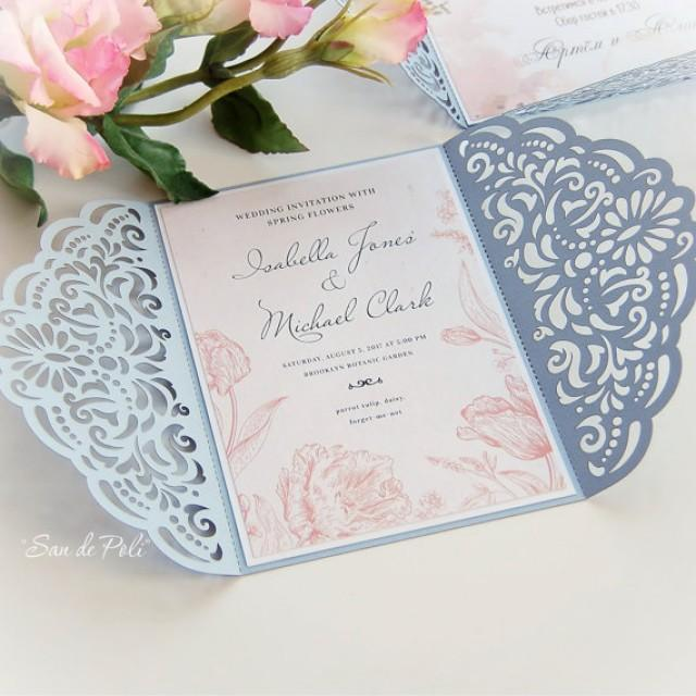 Wedding Invitation Template Filigree (svg, Dxf, Cdr