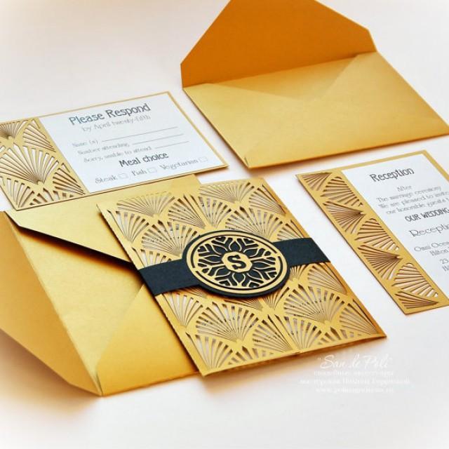 Wedding Invitations Cover: Wedding Invitation, Card Set Template Retro Vintage Art