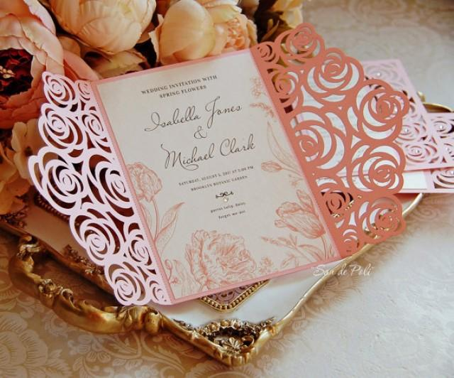 roses wedding luxery card template cutting file c113  svg