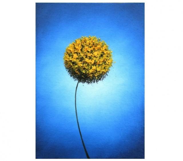 Yellow Flower Art Print Abstract