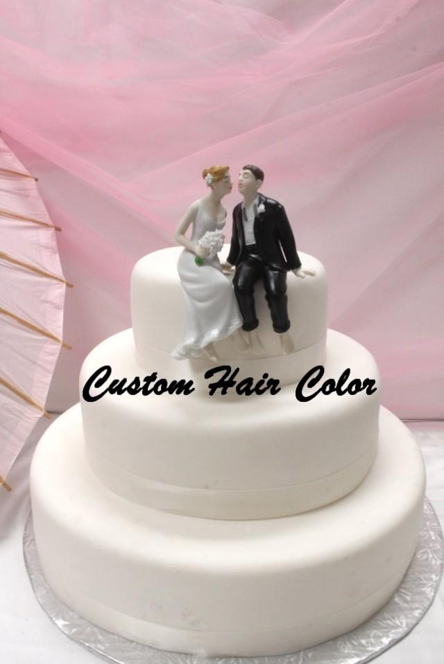 Personalized Wedding Cake Topper Wedding Couple Whimsical Sitting Bride And Groom Cake Topper Weddings Cake Topper Romantic 2679867 Weddbook