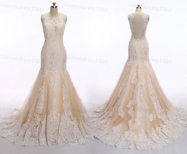 Mermaid Lace Wedding Dress, Vintage