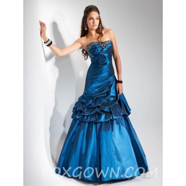 8102fce662 Kleid Peacock Blau Trägerlos Classic Lange Festliche Kleider Prom gyb7Yf6