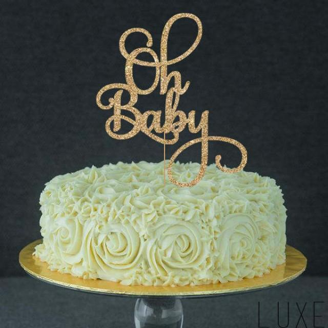Oh Baby Cake Topper For Baby Shower Gender Reveal Party
