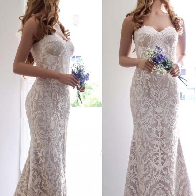 Lace Wedding Dress/ Boho Wedding Dress/ Sexy Wedding Dress