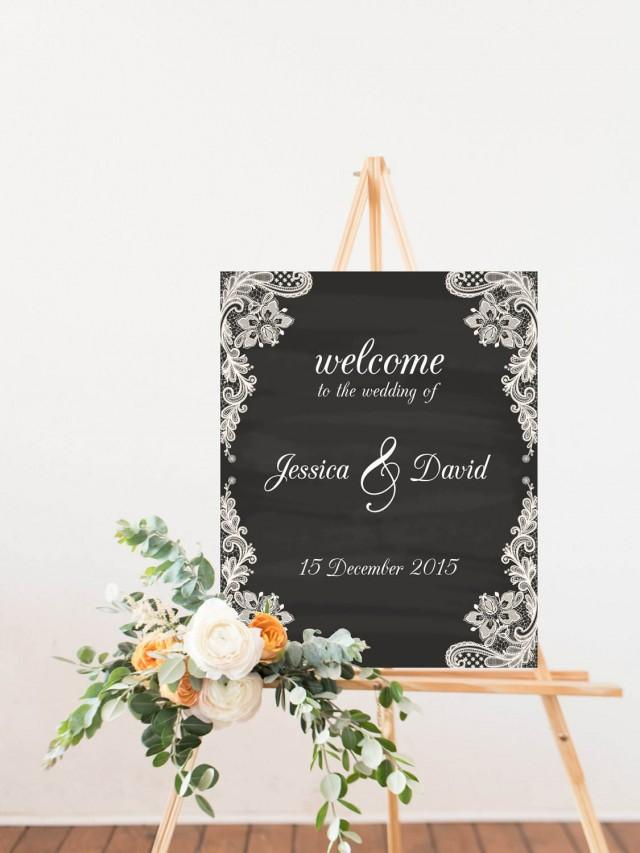 Wedding Decoration Sign Welcome To Our Wedding Chalkboard