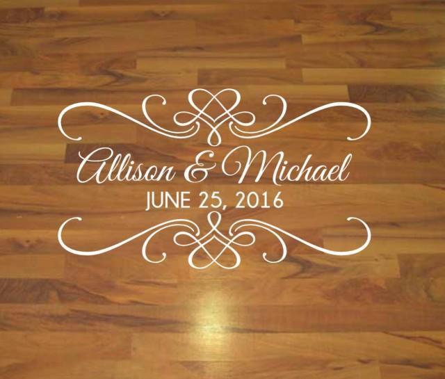 Dance Floor Decal Wedding Decal Vinyl Decal