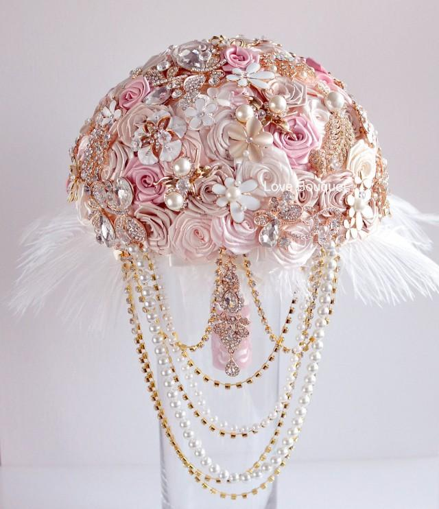 Crystal Wedding Bouquet Brooch Bouquet Wedding Dress Wedding Jewelry Wedding Bridal Bouquet Feathers Bouquet Rose Gold Bouquet Pink Bouquet 2693156 Weddbook,Classy African Dresses For Wedding Guests