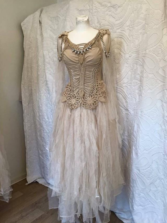 Boho Wedding Dress Golden Goddess Ethereal Wedding Dress