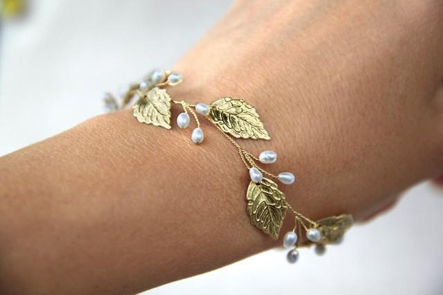 Leaf Bracelet Rose Gold Leaf Bracelet Silver Leaf Bracelet