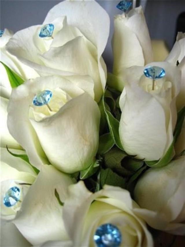 DIAMANTE BOUQUET JEWELRY WEDDING FLOWERS CAKE JEWEL PIN 100