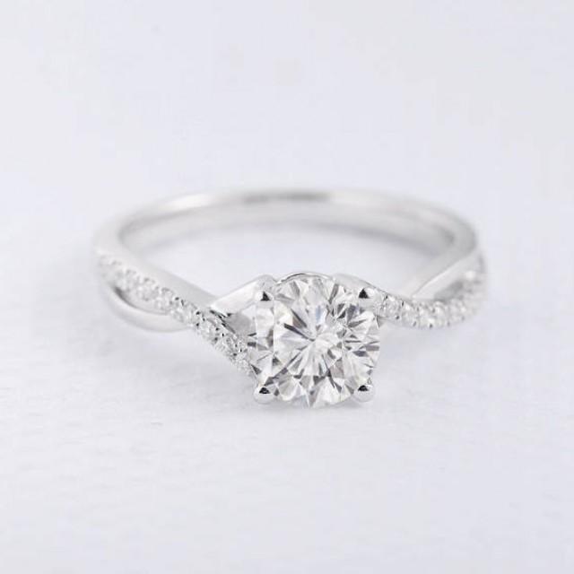 Forever One Forever Brilliant Moissanite Engagement Ring Infinity
