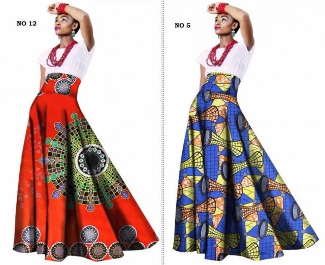 African Women Clothing Long Maxi Dashiki Print Skirt For