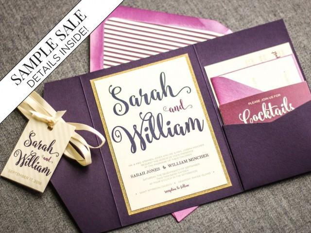 Purple And Gold Wedding Invitations: Purple Wedding Invitations, Purple And Gold Invitations
