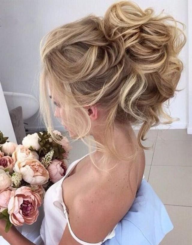 Beautiful Loose High Bun Wedding Hairstyles 2017 #2701146 - Weddbook