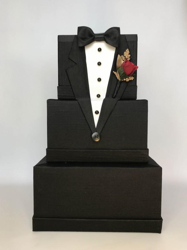 tuxedo wedding card box mens wedding card holder unique