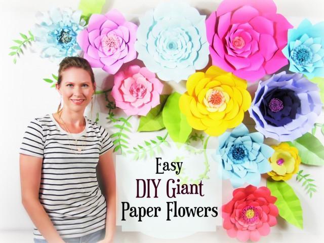 Paper Flower Tutorial Giant Paper Flower Backdrop Paper Flower
