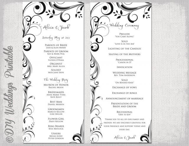 Wedding ceremony programs stationery to design, print, make your own.