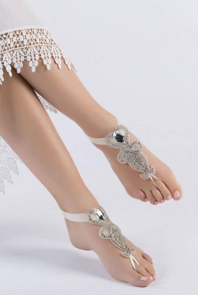 wedding steampunk media beach bellydance barefoot pool rhinestone sexy sandals yoga anklet weddbook