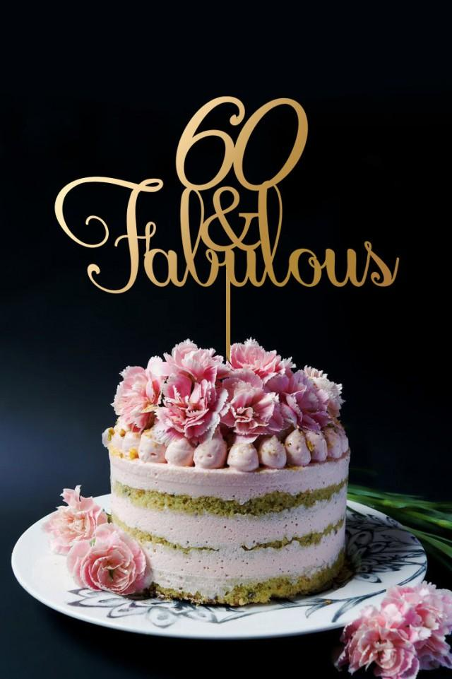 60th Birthday Cake Topper 60th Anniversary Cake Topper