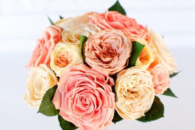 preserved rose bridal bouquet pink peach ivory coral yellow roses garden roses dry flowers real flowers garden rose bouquet 2708326 weddbook