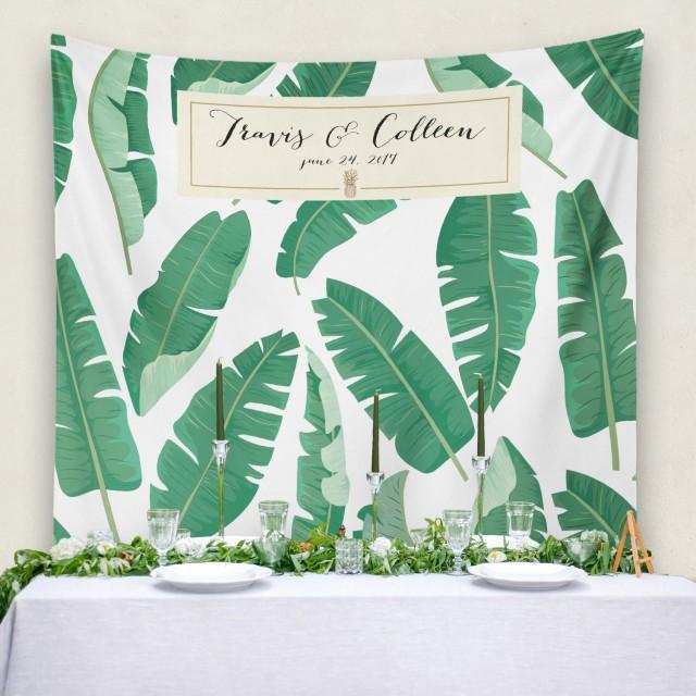 Personalized Wedding Banner Wedding Banner Wedding Backdrop Step And Repeat Banana Leaf Bridal Shower Banner W G28 Tp Reg1 Aa3 2708730 Weddbook