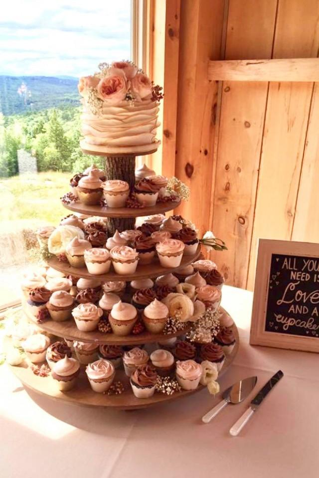 Rustic Cupcake Stand 5 Tier Tower Holder For Donuts Or