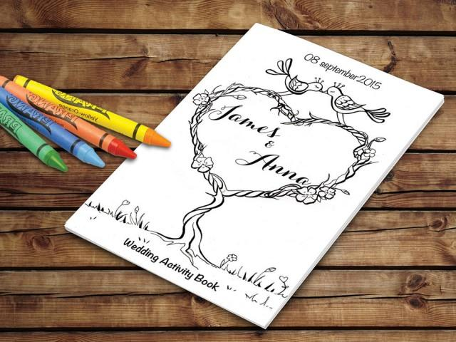 Kids Wedding Activity Book Printable Wedding Printable