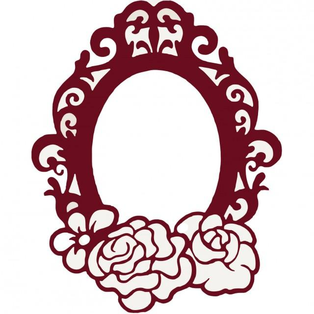 Svg Frame Oval Photo Cutting Template Instal Download Dies