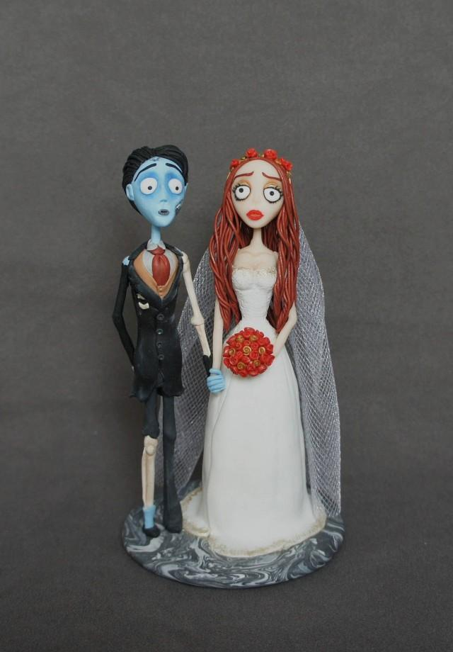 Corpse Bride And Victor Cake Topper