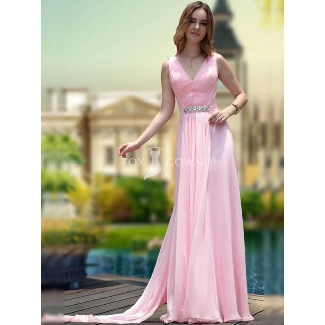mantel rosa in v ausschnitt chiffon prom kleid mit mieder geraffte festliche kleider 2715556. Black Bedroom Furniture Sets. Home Design Ideas