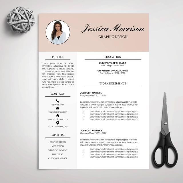 resume template  cv template for ms word  cover letter  professional resume  modern resume