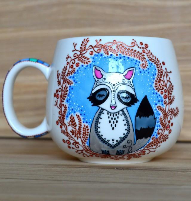 Raccoon Mug Coffee Birthday Gift For Her Kids Lover Funny Kid 2719264