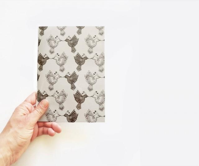 Black and white journal bird pattern notebook minimal for Minimal art journal