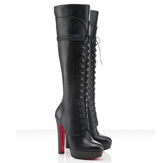 efddc7f025c Christian Louboutin Nardja 140mm Boots Black - $273.00 : Red Bottom ...