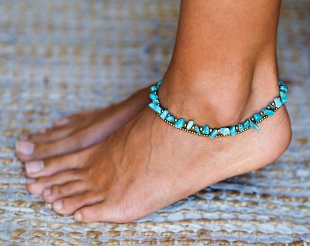 Turquoise Anklet // Anklet // Women Anklet // Women Ankle ...