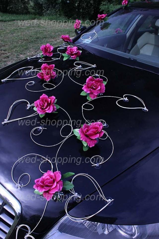 Wedding Car Decoration Kit Burgundy Roses DEK1022 Wedding