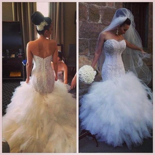 Cheap 2016 Hot Sale Sexy Mermaid Wedding Dresses Lace Up