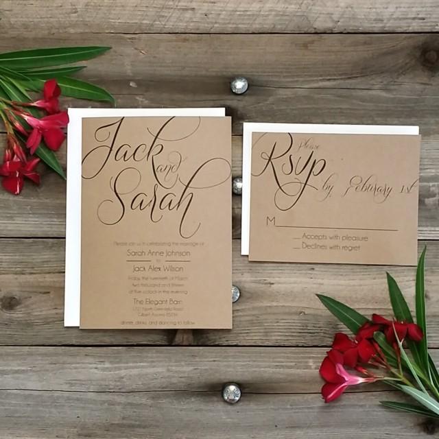Printing Wedding Invitation Envelopes At Home: PRINTED Country Rustic Wedding Invitation Package, Printed