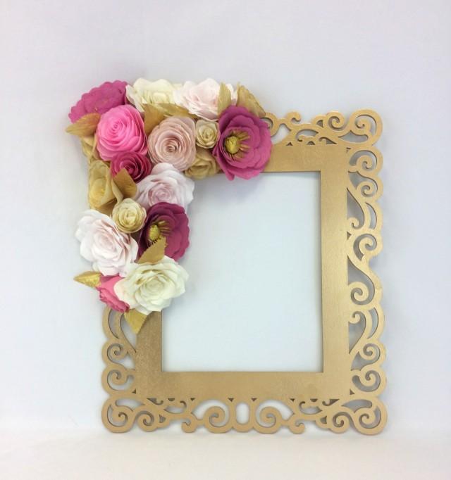 Floral Frame Photo Prop 3d Flower Wall Art Paper Flower Wall