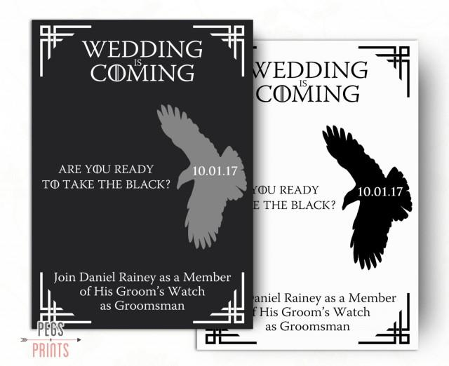 photo relating to Printable Man Card called Geek Will Your self Be My Groomsman Card - Recreation Of Thrones Will