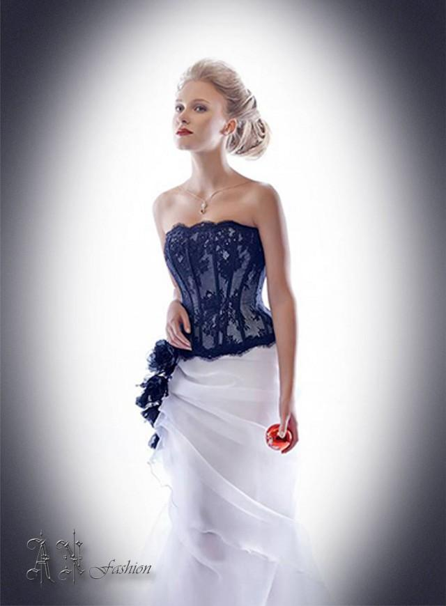 Lace Corset Strapless Wedding Corset Black Wedding Top