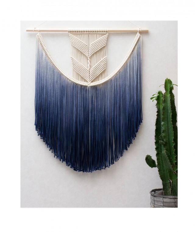 Large Macrame Wall Hanging Modern Macrame Dip Dye